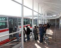 神領駅北口中部大学スクールバスのりば